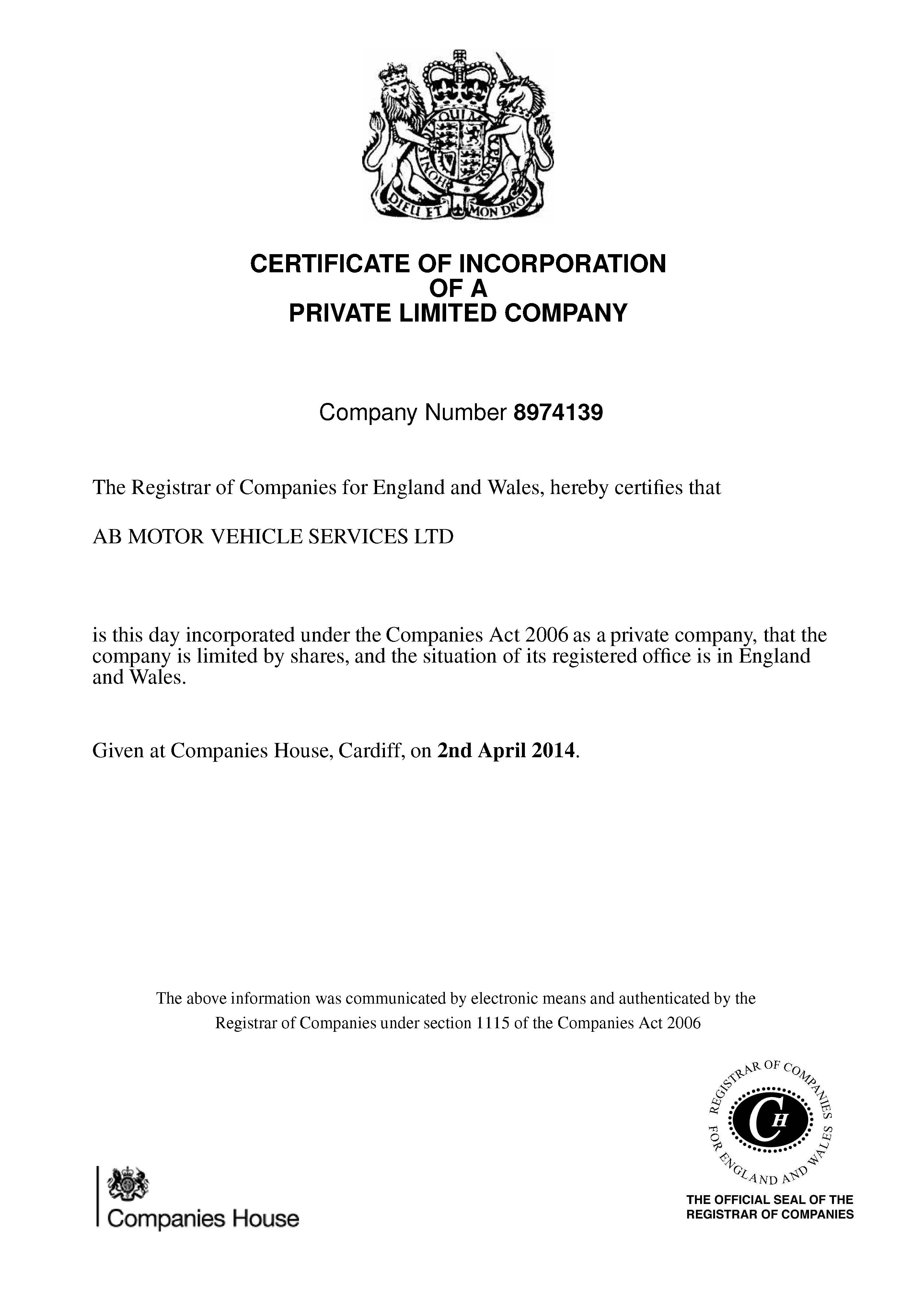 AB Motor Vehicle Services Ltd